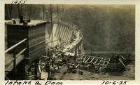 Lower Baker River dam construction 1925-10-06 Intake & Dam