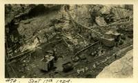 Lower Baker River dam construction 1924-09-17 Excavation at dam site