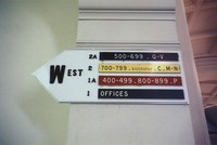 1965 Library: Signage