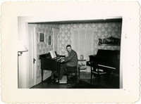 Gunnar Anderson in home music room