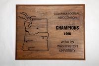 Football Plaque: Columbia Football Association Champions, 1996