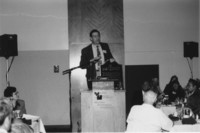 1993 Reunion--Curt Smith Introduces Campus School Plaque At Banquet
