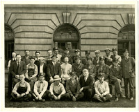 Unidentified group of men, possibly in downtown Bellingham, Washington