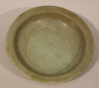 Japanese Imari plate with incised floral devices in center