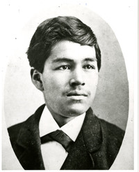 Studio portrait of Jimmy Pickett as a young man