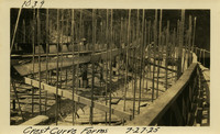 Lower Baker River dam construction 1925-07-27 Crest curve forms