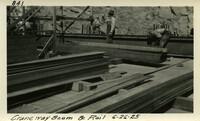 Lower Baker River dam construction 1925-06-26 Craneway Beam & Rail