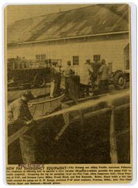 Pacific American Fisheries emergency equipment