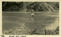 Lower Baker River dam construction 1924-09-23 Flood area