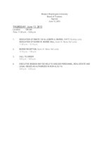 WWU Board of Trustees Packet: 2013-06-13