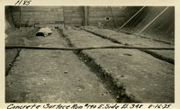 Lower Baker River dam construction 1925-08-16 Concrete Surface Run #190 E. Side El.348