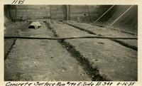 Lower Baker River dam construction 1925-08-16 Concrete Surface Run #190 E. Side El.348
