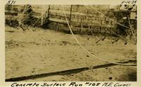 Lower Baker River dam construction 1925-05-16 Concrete Surface Run #105 N.E. Corner