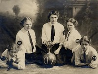 1906 Junior Basketball Team with the Kline Cup