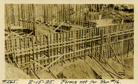 Lower Baker River dam construction 1925-02-15 Forms Set for Run #16