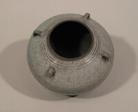 Sawankhalok ware jar, ovoid body with small loop handles at neck