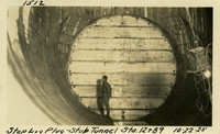 Lower Baker River dam construction 1925-10-22 Stop Log Plug--Stub Tunnel, Sta 12+89