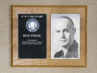 Hall of Fame Plaque: Boyd Staggs, Football, Baseball, Class of 1968