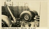 Lower Baker River dam construction 1925-09-07 Main Generator Room