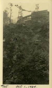 Lower Baker River dam construction 1924-10-01 Concrete transport