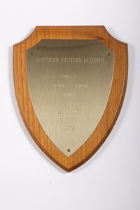 Track and Field (Women's) Plaque: Northern Eastern District Meet 1st Place, 1972