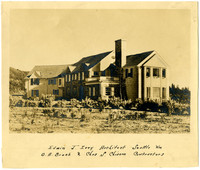 Exterior of newly-completed, large, two-story house owned by widow of C.X. Larrabee, Bellingham, Washington