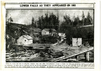 Lower falls on Whatcom Creek