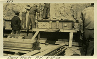 Lower Baker River dam construction 1925-06-27 Crane Trucks P.H.