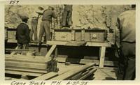 Lower Baker River dam construction 1925-06-27 Crane Trucks P.H.