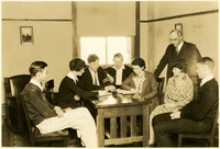 Fairhaven High School students with principal E.S. Howell standing on right