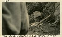 Lower Baker River dam construction 1925-08-17 Rock Surface Run #191 E. Side El.3547