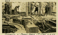 Lower Baker River dam construction 1925-06-03 Conduits at Power House 1st Floor