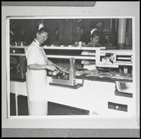 Two unidentified women  - cannery workers, possibly Bornstein Seafoods