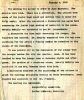 AS Board Minutes 1946-01