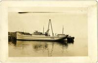 Unidentified diesel powered supply vessel tied to Pacific American Fisheries (PAF) dock, Bellingham, WA