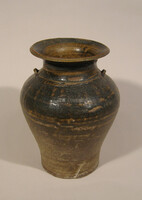 Sankempeng ware jar, flaring rim, two loop handles at shoulder