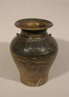 Sankempeng ware jar, flaring rim, two loop handles at shoulder