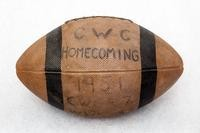 Football: commemorative homecoming football, 1951