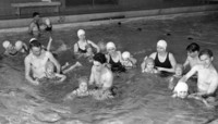 1947 Kindergartners Learn to Swim