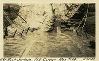Lower Baker River dam construction 1925-05-15 Rock Surface N.E. Corner Run #104
