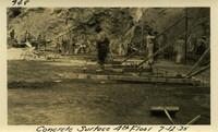 Lower Baker River dam construction 1925-07-12 Concrete Surface 4th Floor