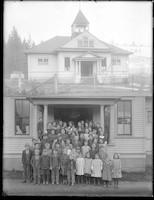 Two photos of Acme Schoolhouse.