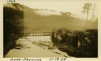 Lower Baker River dam construction 1925-11-19 Lake Shannon (with railroad trestle)