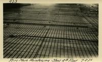 Lower Baker River dam construction 1925-07-08 Wire Mesh Reinforcing Steel 4th Floor