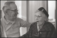 Close up of an unidentified man and woman.