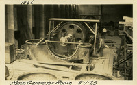 Lower Baker River dam construction 1925-08-01 Main Generator Room