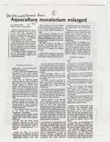 Aquaculture moratorium enlarged