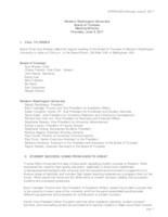 WWU Board of Trustees Minutes: 2017-06-08