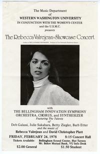 The Rebecca Valrejean: Showcase Concert Poster