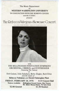 The Rebecca Valrejean: Showcase Concert Poster